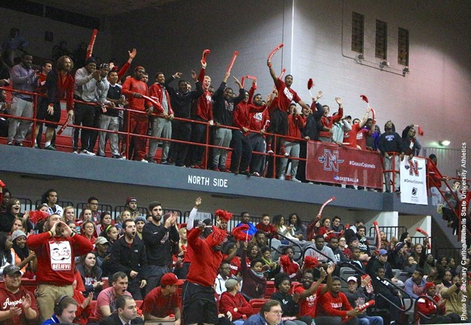 Nicholls Crowd Celebration