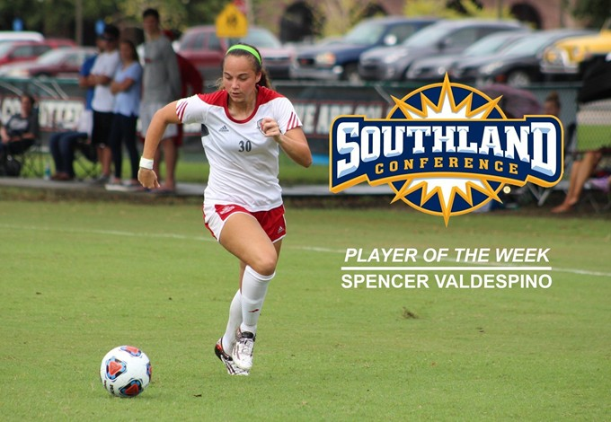 Spencer Valdespino Southland Conference Offensive Player of the Week
